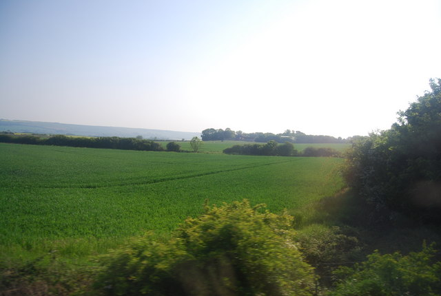 Arable land south of the railway