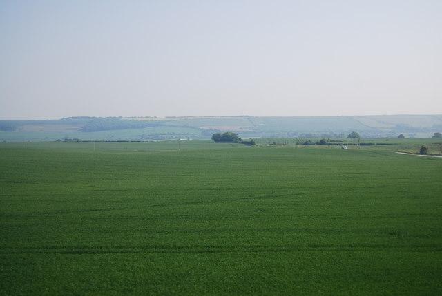 Prairie like landscape near Lebberston