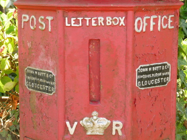 Holwell: detail of Britain's oldest postbox