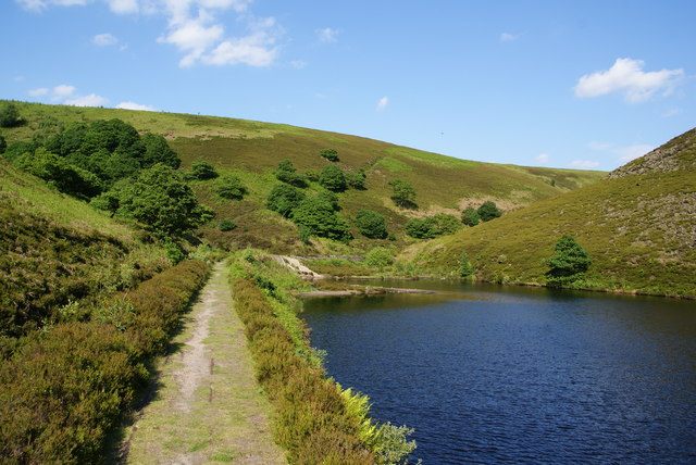 The head of the reservoir above Carrbrook