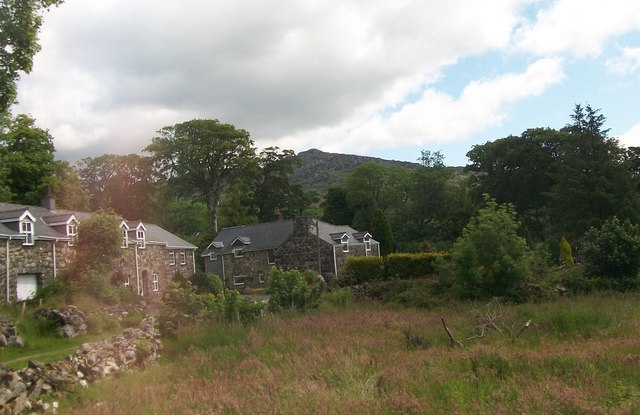 Stone built houses on the south-western outskirts of Garndolbenmaen