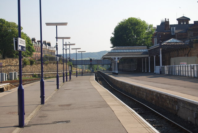 Platform at Scarborough Station