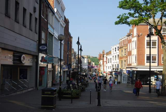 Westborough pedestrianised shopping area