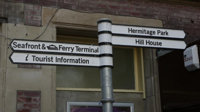 Direction signs at Helensburgh Central station