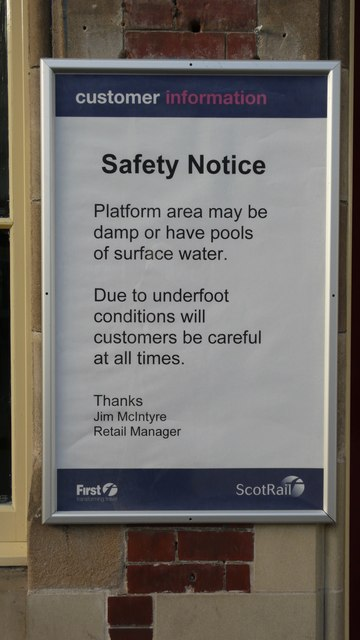 ScotRail cares for its customers at Helensburgh