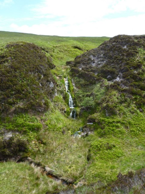 Waterfall, Gleann a'Chromain, Islay