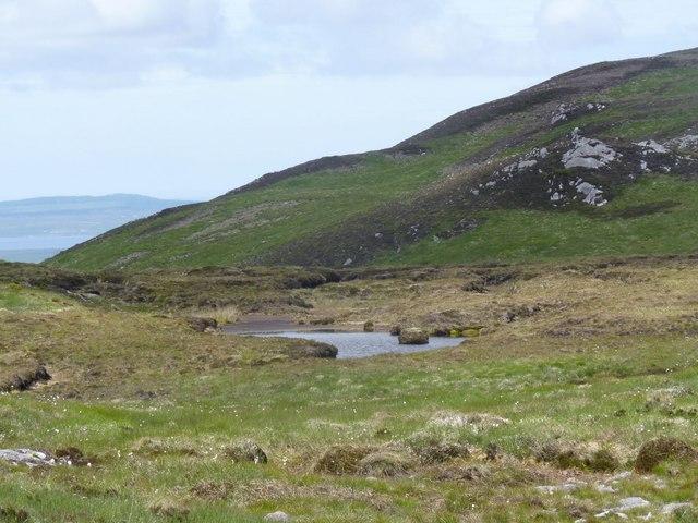 Tiny lochan south-west of  Loch Beinn Uraraidh, Islay