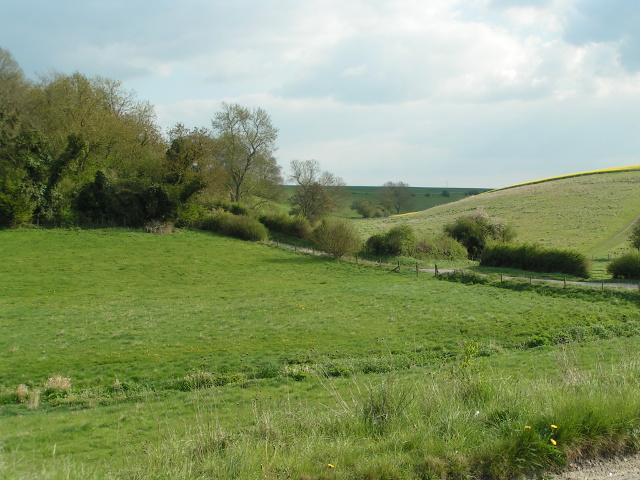 Looking south across sunny fields