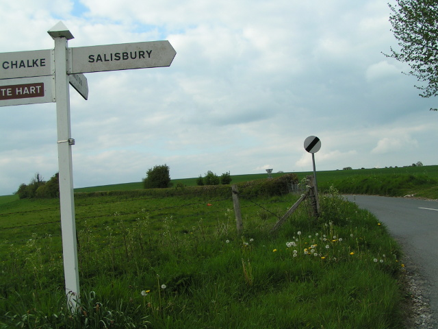 Signpost and lane