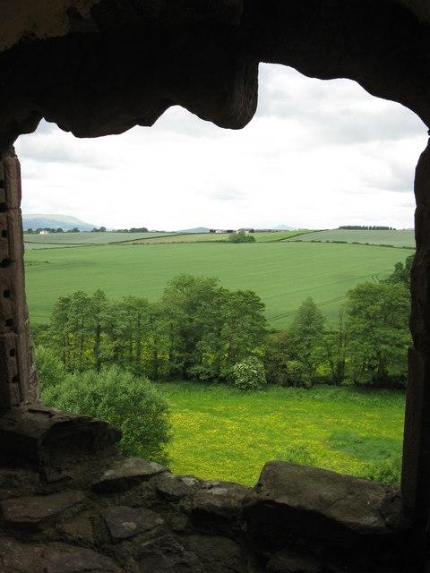 View from a window of Raglan Castle