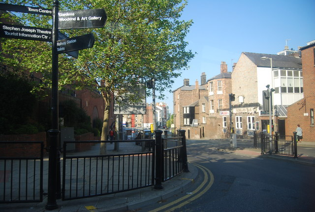 Tourist information, junction of York Parade and Somerset Terrace