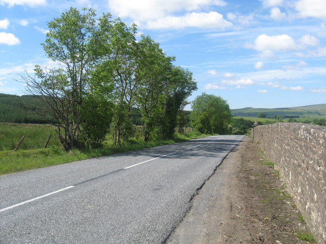The A6357 near Newcastleton