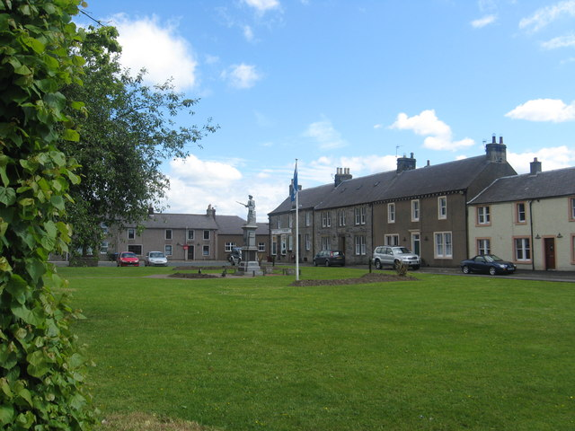 The village green at Newcastleton or to give the village its correct name, Copshaw Holm