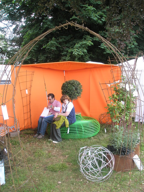 Trying out a seat at the 2010 Stansted Garden Show