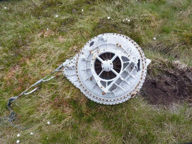 Supercharger of Fairey Firefly, Beinn Uraraidh, Islay