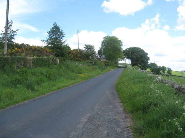 A minor road in the Borders