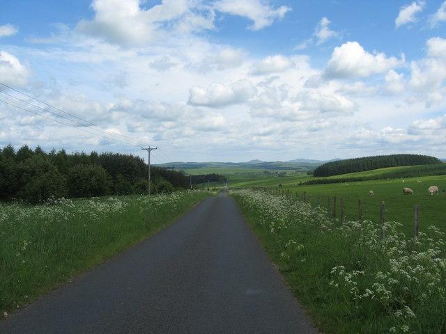 Minor road passing below Mervins Law