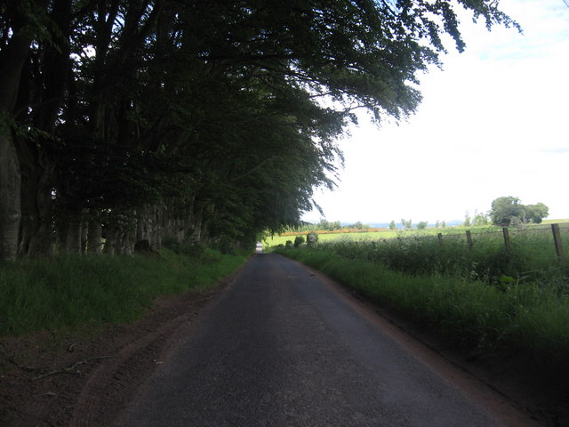 Road heading away from Ruletownhead