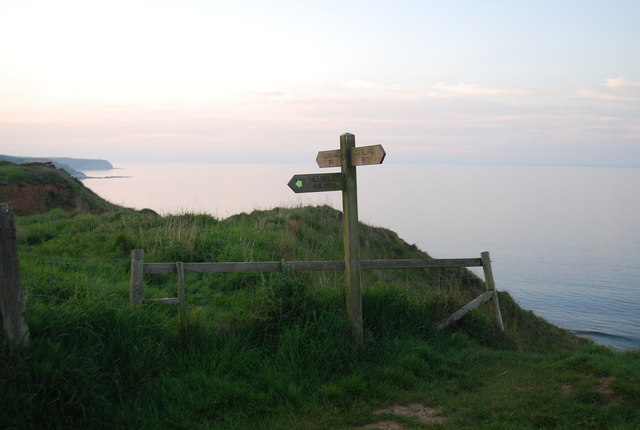 The start of the Tabular Hills Walk off the Cleveland Way