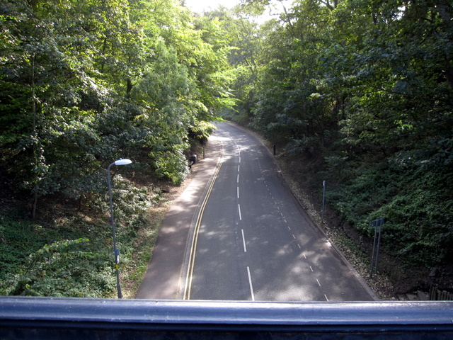 Ravine Road from Church Bridge - south east