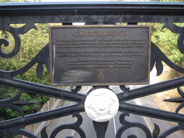 Plaque on Church Bridge, Filey