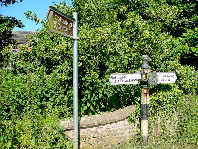 Herefordshire road sign