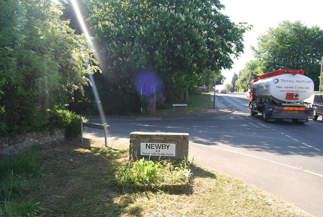 Entering Newby on the A171