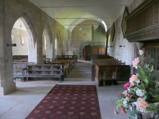 St. Cuthbert's church, Holme Lacy, interior