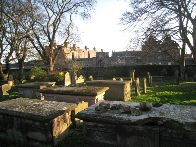 View from Holy Trinity churchyard to the Barracks