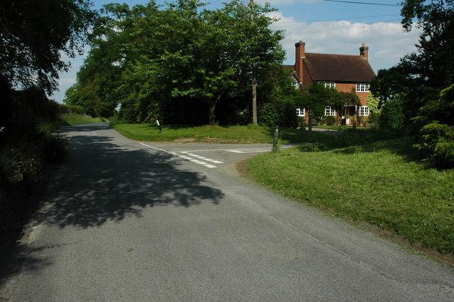 Road junction near Shelfield