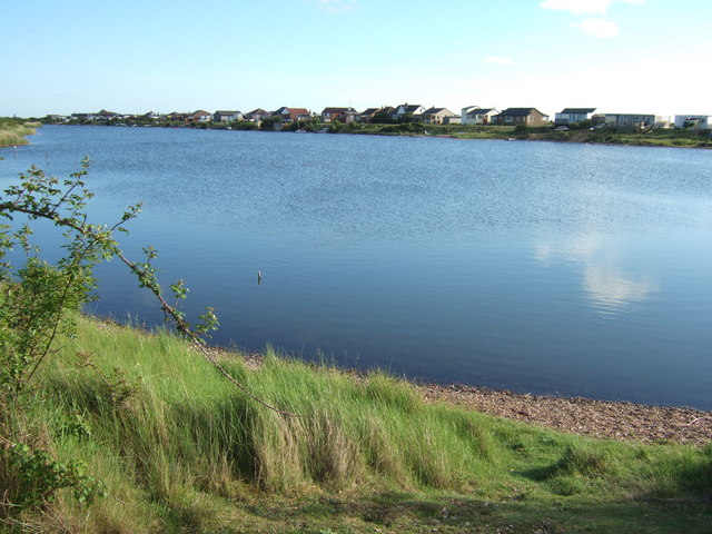 Beach chalets over the lake