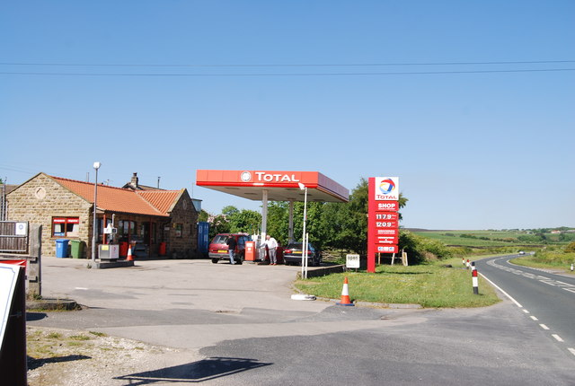 Filling station by the A171