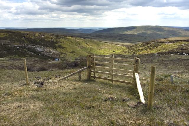 Access gate above Green Pot Clough