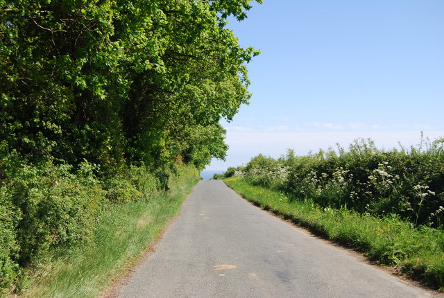 Lane NE from Colcroft Farm