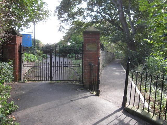 Entrance gate to St Oswald's churchyard, Filey