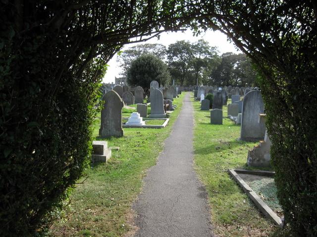St Oswald's, Filey - churchyard path