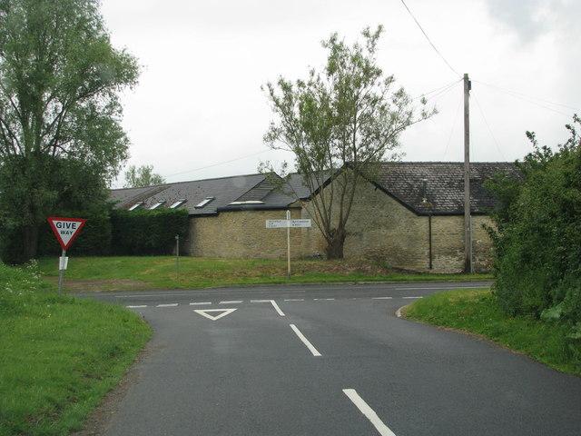 Road junction by Diamond Farm