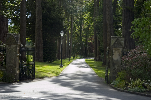 Driveway to Thorneyholme Hall