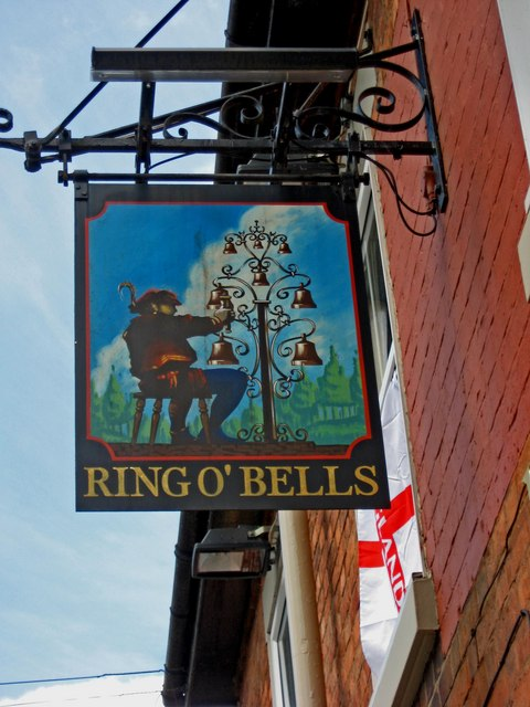 Ring O' Bells pub sign, 7 The Holloway