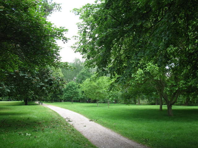 Footpath by the playing field