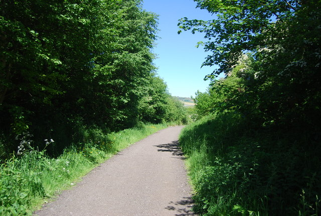 Old railway line: northwards