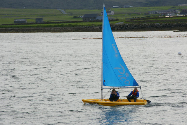 Laser Pico dinghy in Baltasound voe