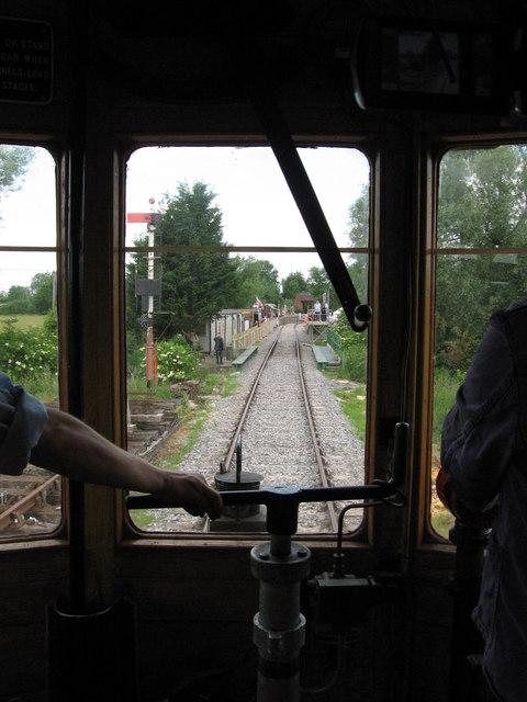 Driver's eye view of Swindon & Cricklade Railway
