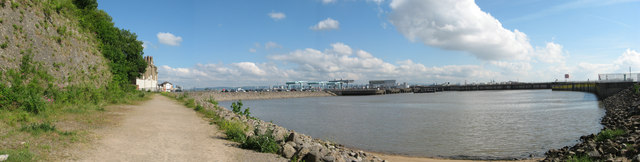 Sheltered harbour at Cardiff Bay Barrage