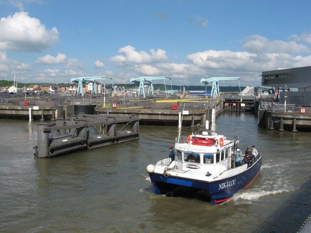 Cardiff Bay Barrage locks
