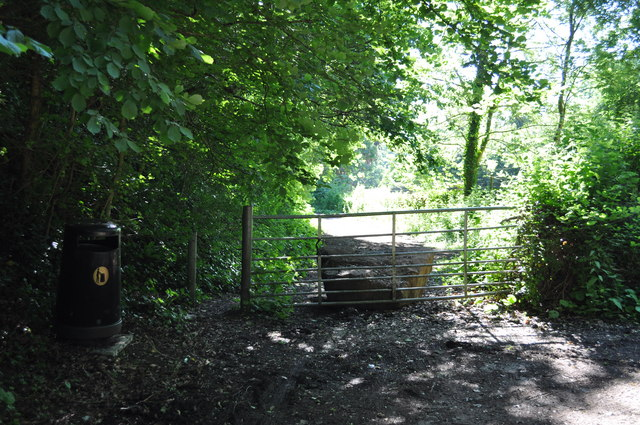Gate across disused section of A48