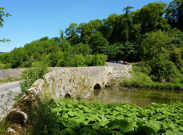 Conksbury Bridge and the River Lathkill