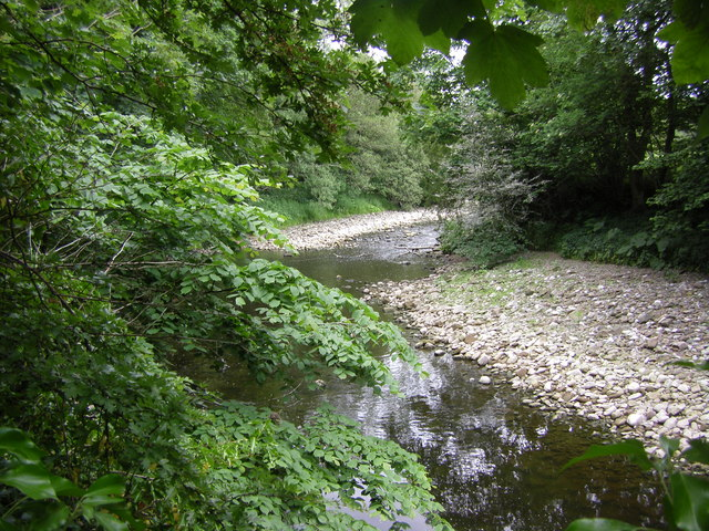 River Wenning in low water conditions