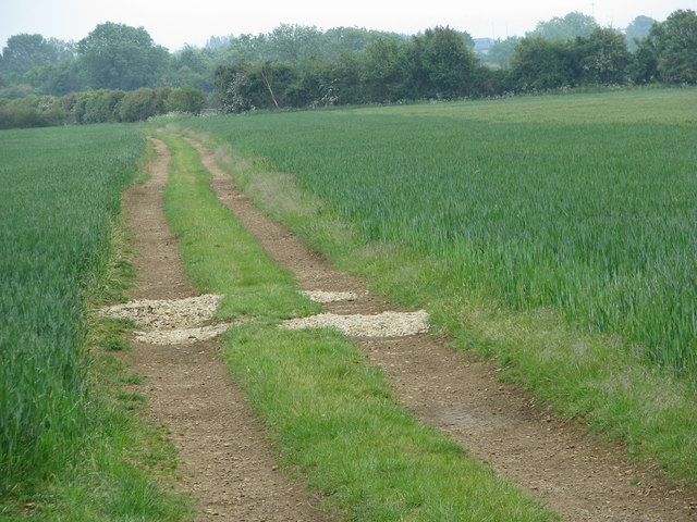 Home-made speed humps on road to Simms Farm