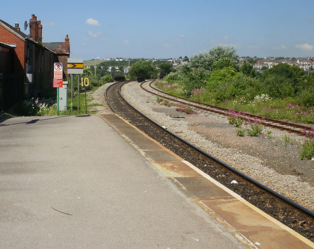 The view west from Barry Island railway station